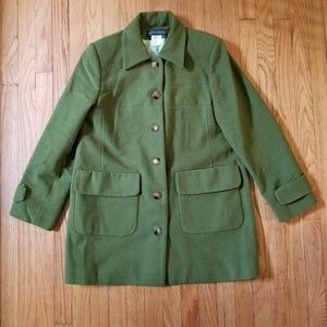 Harve Benard Wool Coat Green Size 10